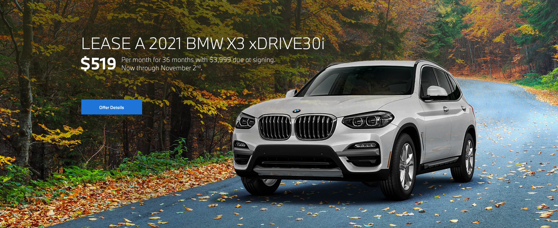 2021 X3 xDrive30i Lease Special