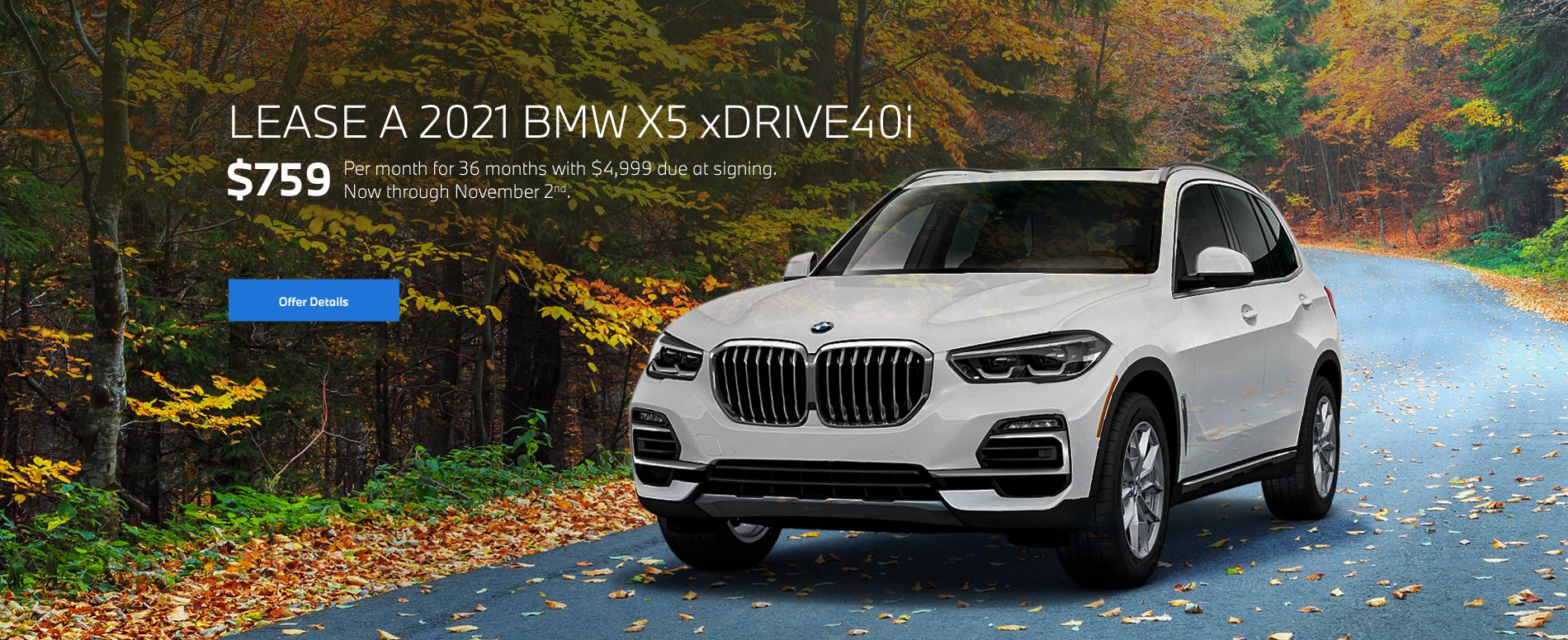 2021 X5 xDrive40i Lease Special