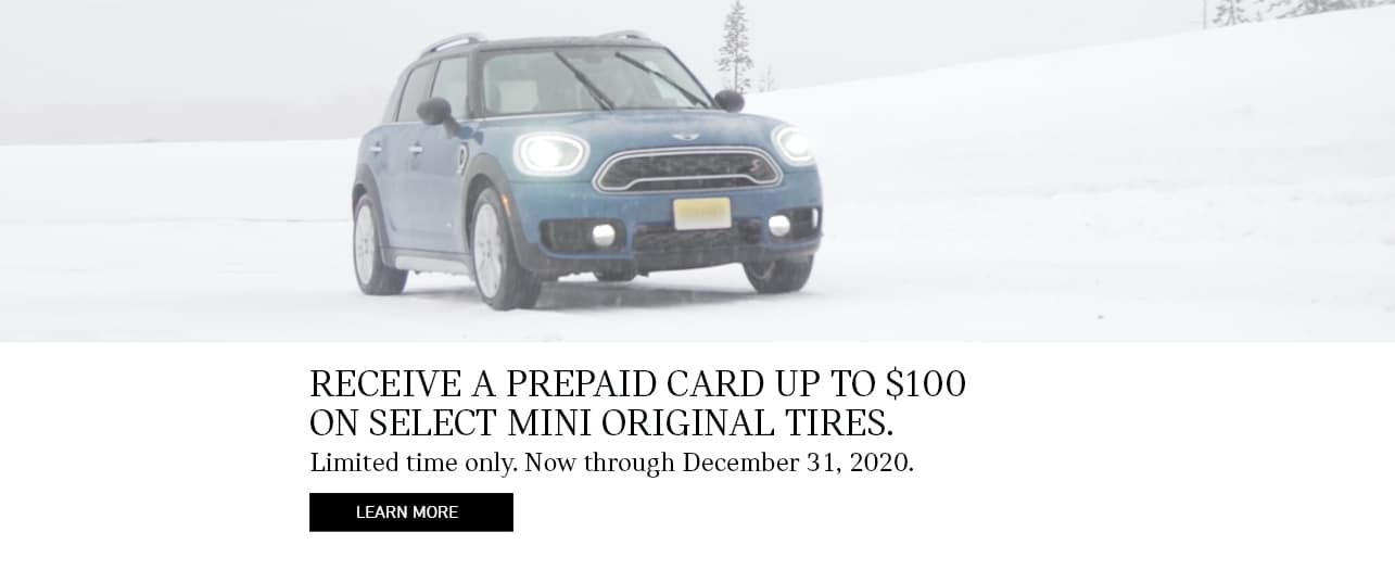 $100 Mail In Rebate for Visa Giftcard with Purchase of 4 MINI Tires.