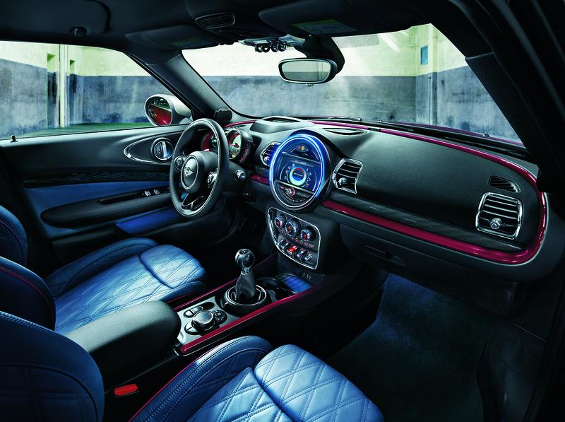 Interior of a MINI Cooper