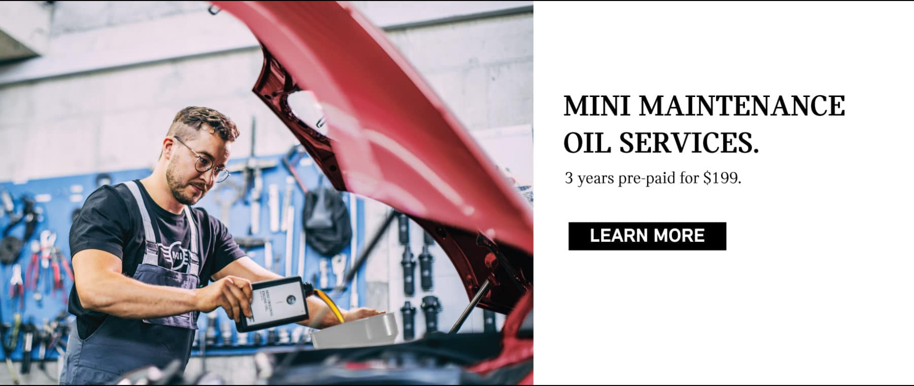 MINI Maintenance Oil Services. 3 years pre paid for $199