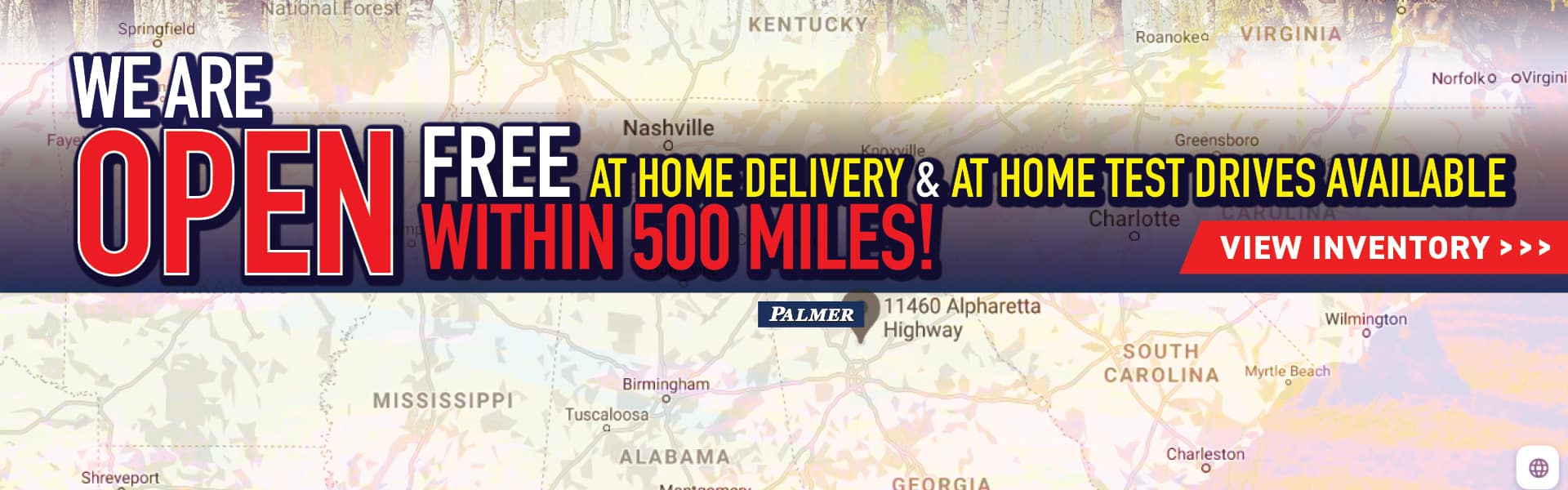 Palmer Dodge Chrysler Jeep RAM in Roswell, GA is Open