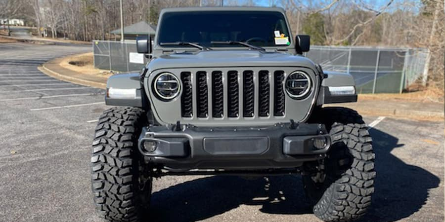 Lifted 40'' Gladiator Front and Grill View