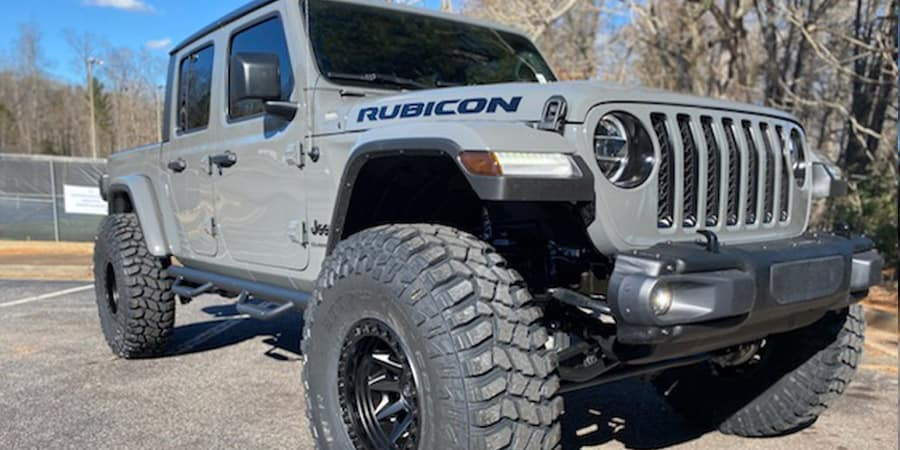 Grey Lifted 40'' Gladiator Rubicon 3/4 Angle