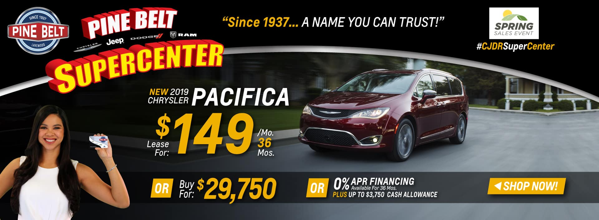 2019 Chrysler Pacifica Sales Deals or Specials in NJ
