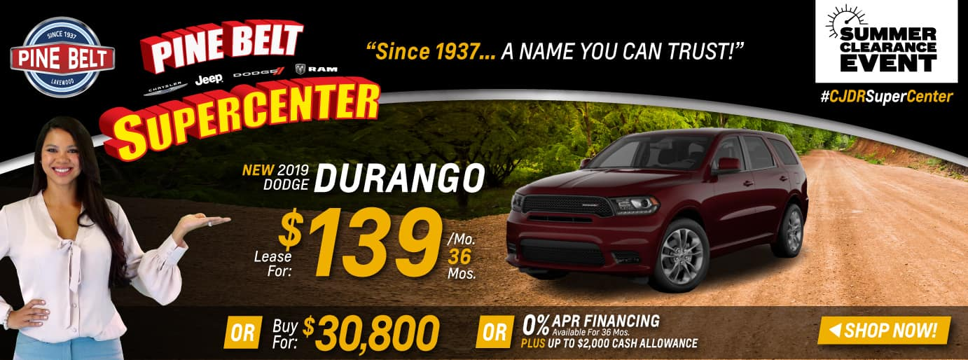 2019 Dodge Durango Sales Deals or Specials in NJ
