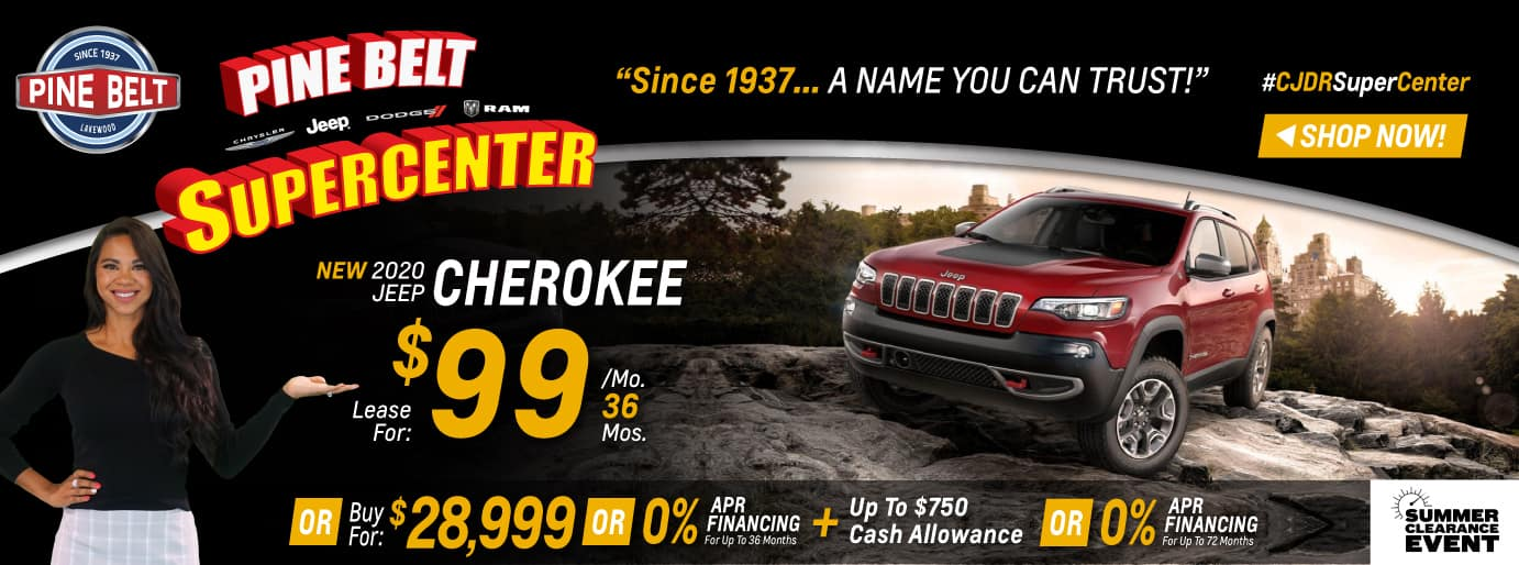 Jeep Cherokee Lease Deal $99 for 36 months