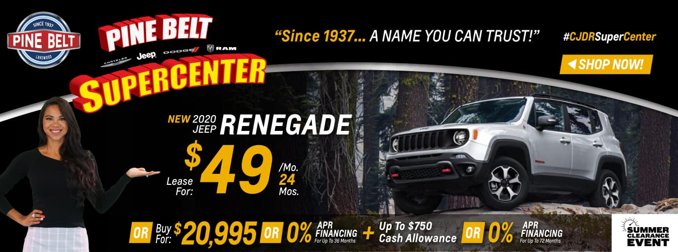 July 2020 Jeep Renegade Lease Deal $49 for 24 months