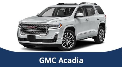 2021 White GMC Acadia