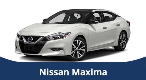White Nissan Maxima