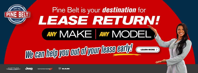 Lease Return Options - Return any lease