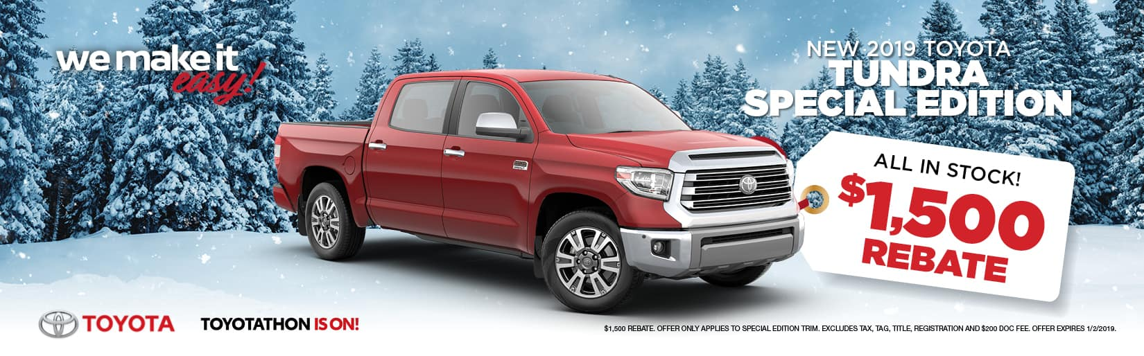 19 TUNDRA SPECIAL EDITION REBATE