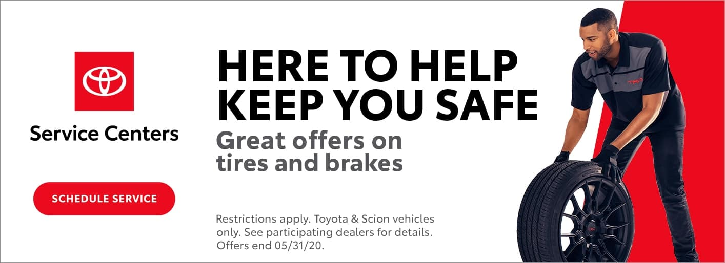 Toyota tire and brake offer banner