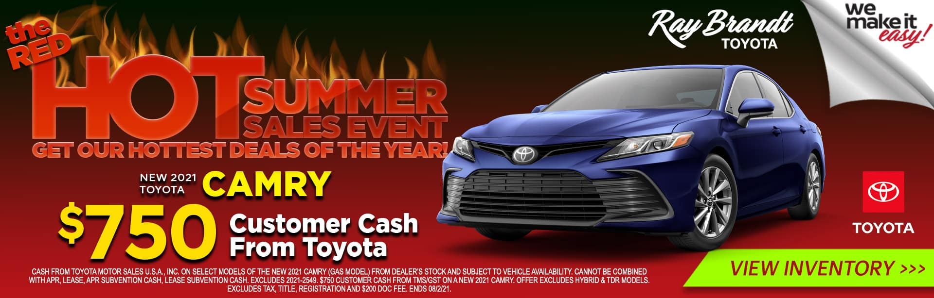 NEW 2021 Toyota Camry for Sale