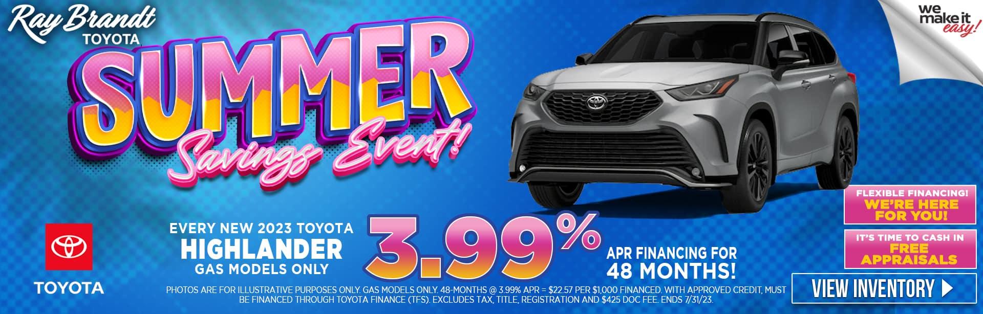 NEW 2021 Toyota Highlander in Stock