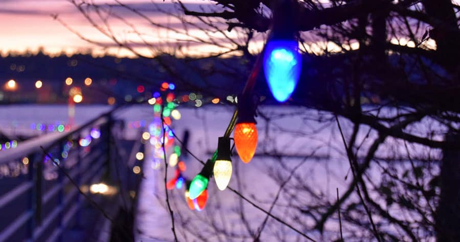 Stream of Colored Lights