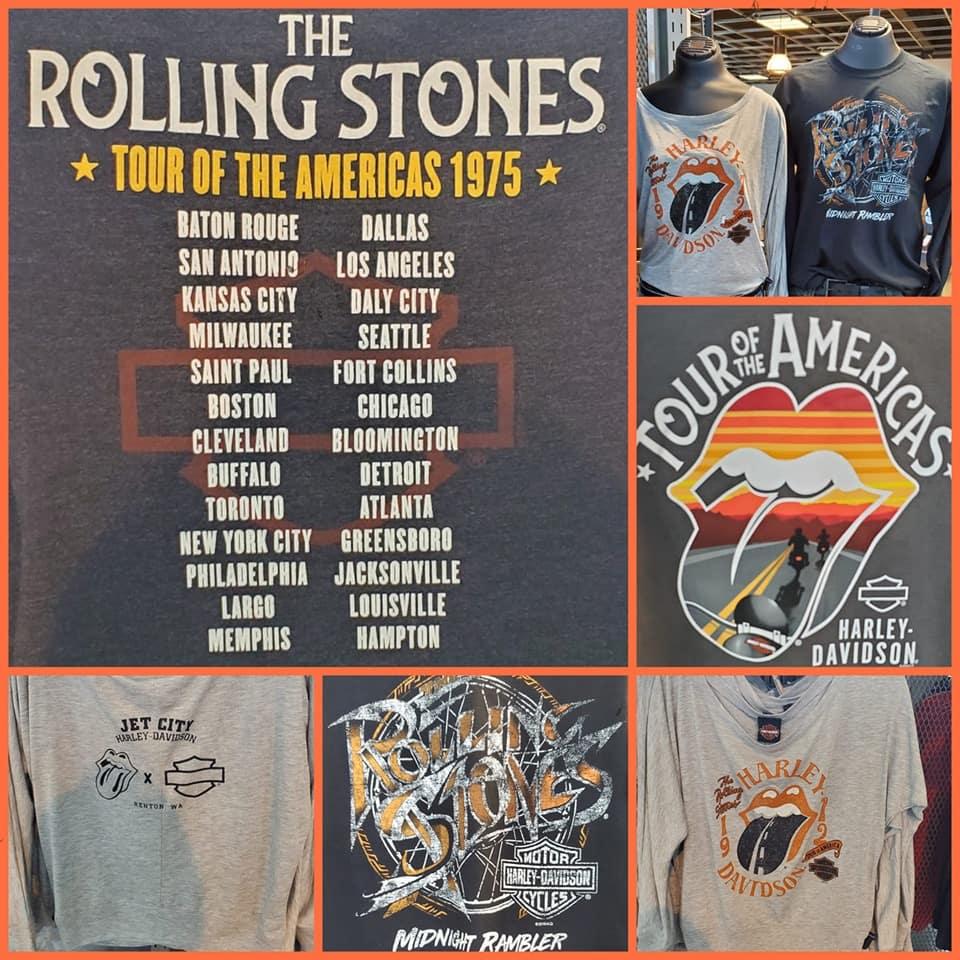 The Rolling Stones Jet City Harley-Davidson Seattle T-Shirt