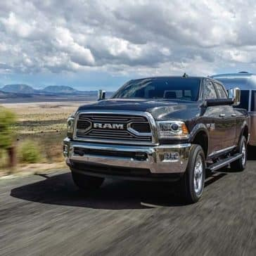 2018 Ram 2500 limited HEMI badge towing trailer