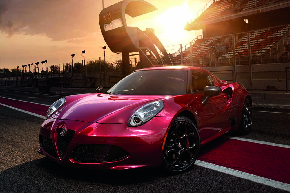 2018-Alfa-Romeo-4C-Coupe-Parked-On-Track