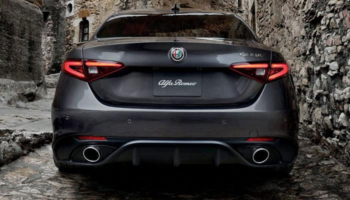 2019 Alfa Romeo Giulia Quadrifoglio on Rear View