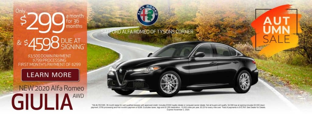 New 2020 Alfa Romeo Giulia - Only $299 a month - Learn More