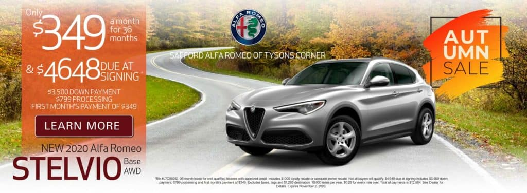 New 2020 Alfa Romeo Stelvio - Only $349 a month - Learn More