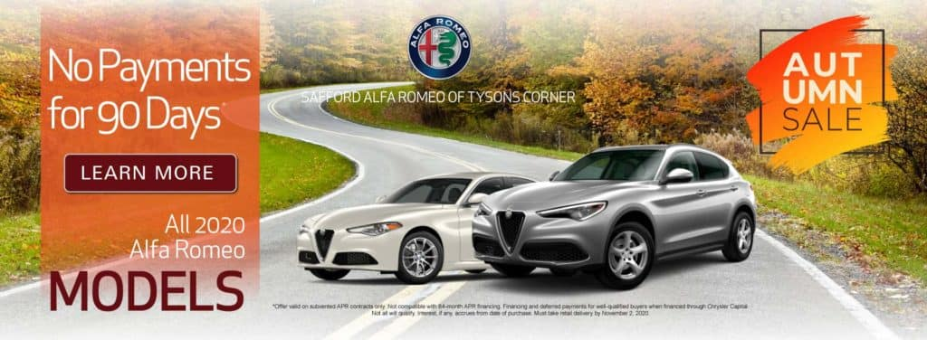 All 2020 Alfa Romeo Models - No Payments for 90 Days - Learn More