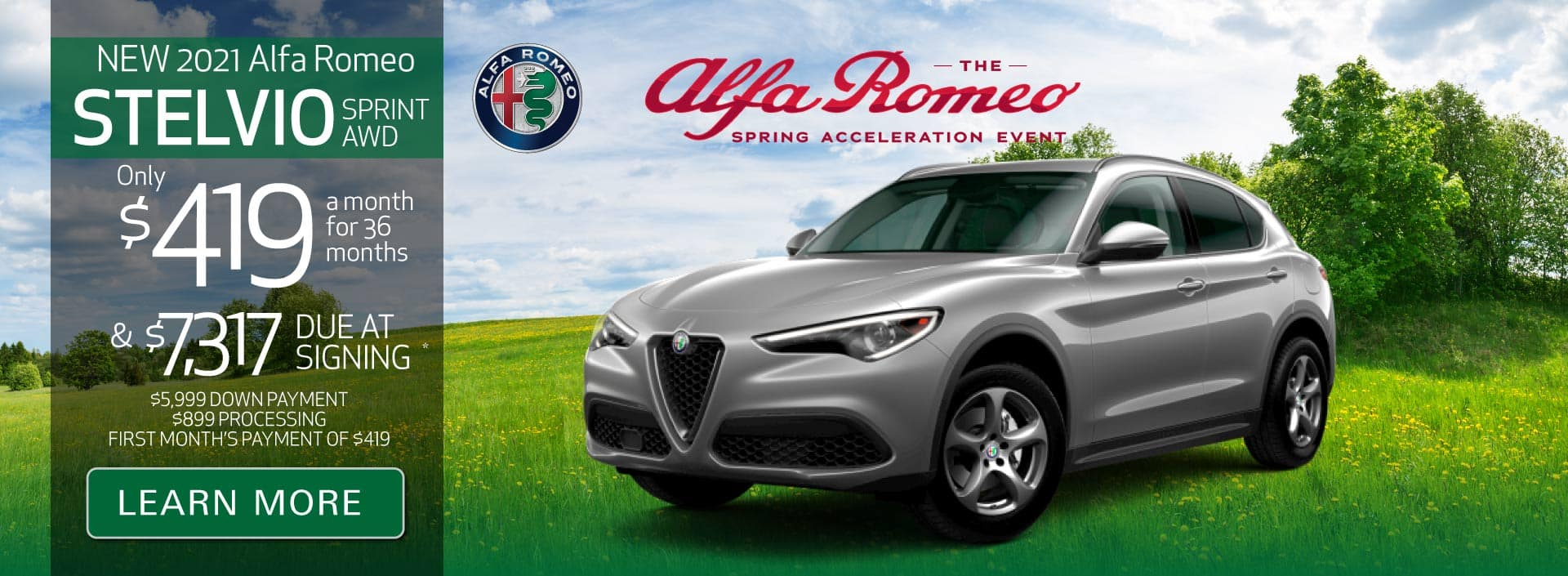New 2021 Stelvio Sprint AWD Only $419 a month for 36 months | Learn More