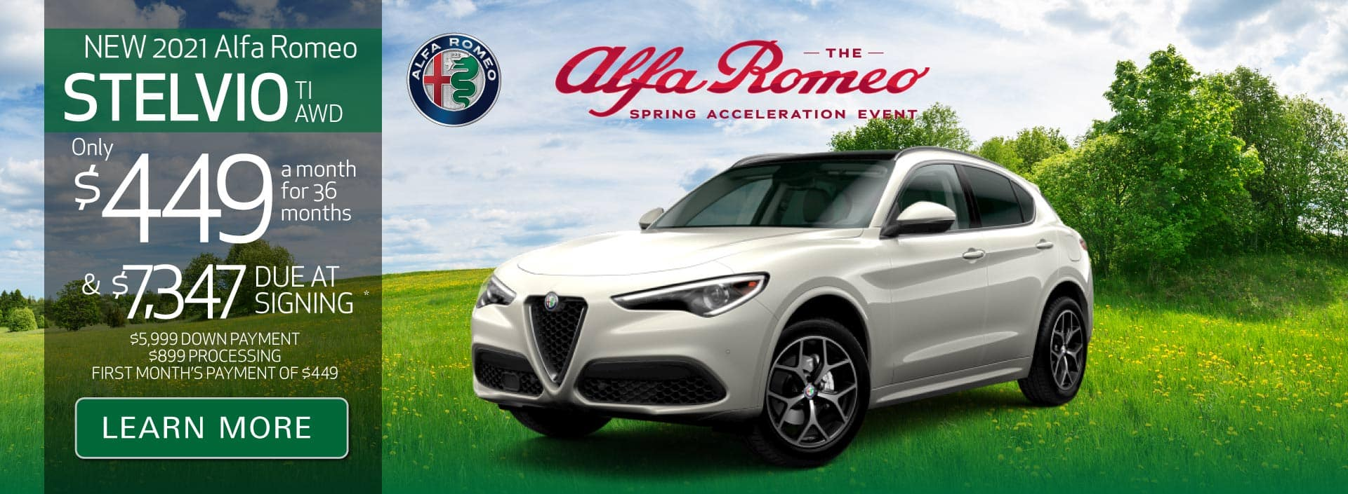 New 2021 Stelvio TI AWD Only $449 a month for 36 months | Learn More