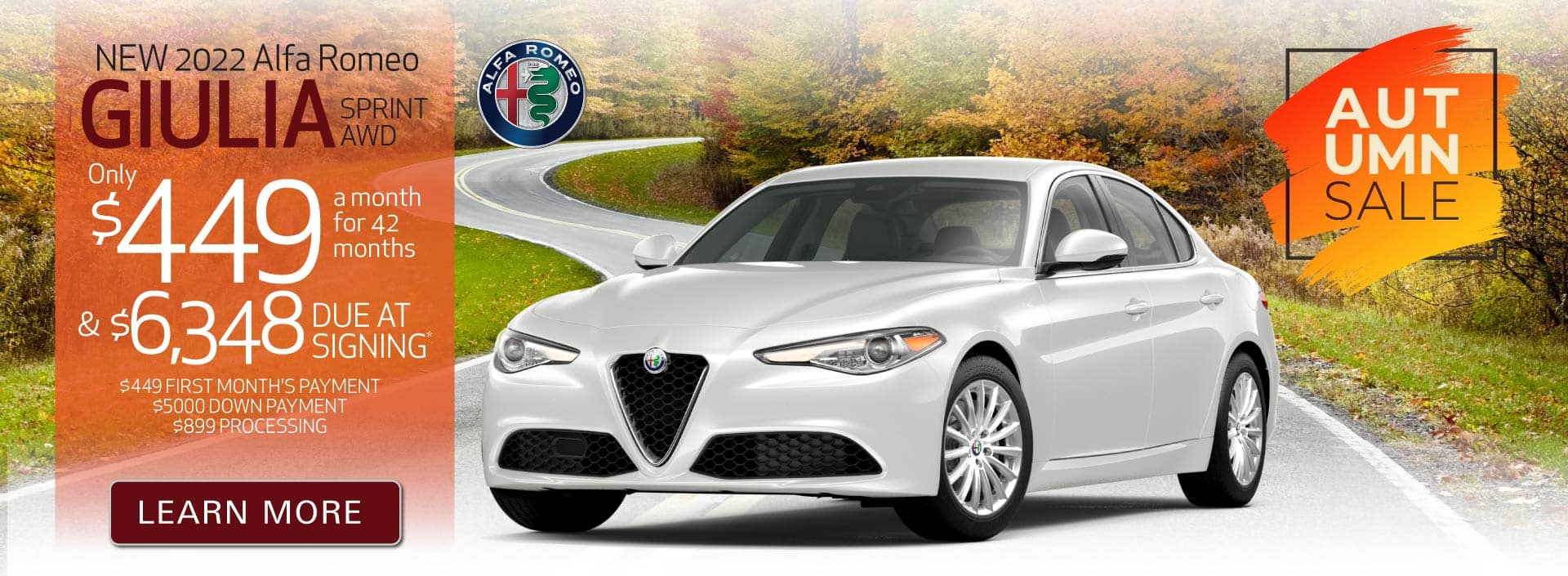 New 2022 Giulia only $449 a month | Act Now