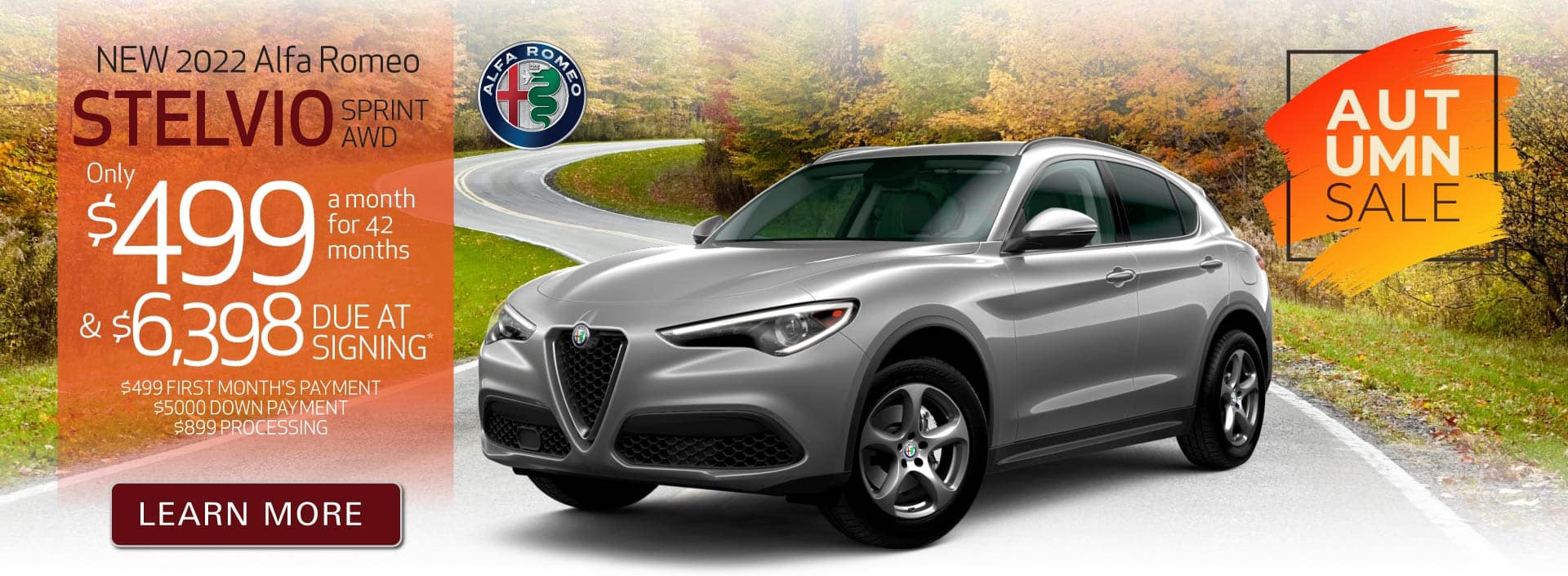 New 2022 Stelvio only $499 a month | Act Now