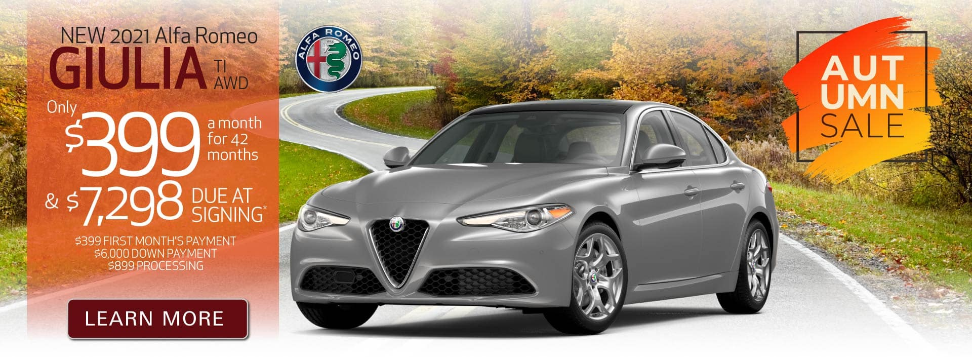New 2021 Giulia only $399 a month | Act Now