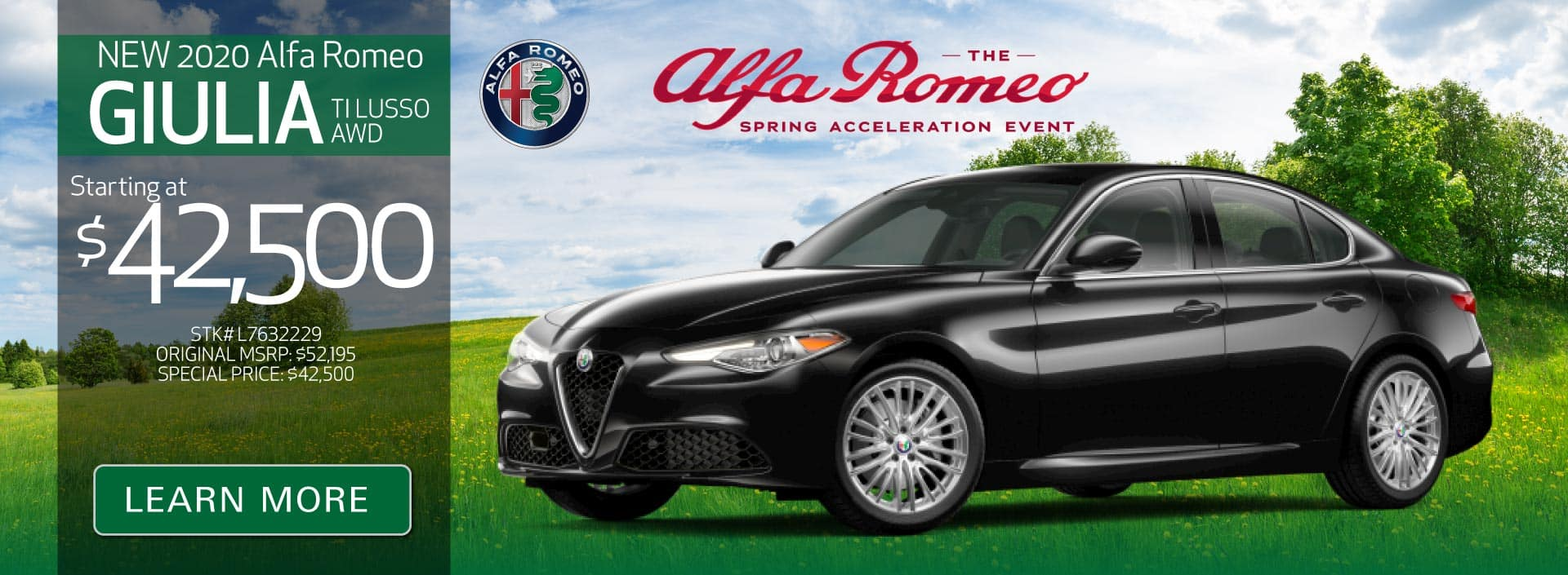 New 2020 Giulia TI Lusso AWD starting at $42,500 | Learn More