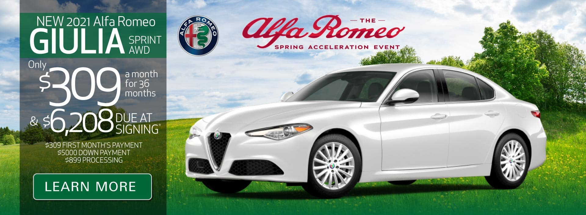 New 2021 Giulia Sprint AWD only $309 a month | Learn More