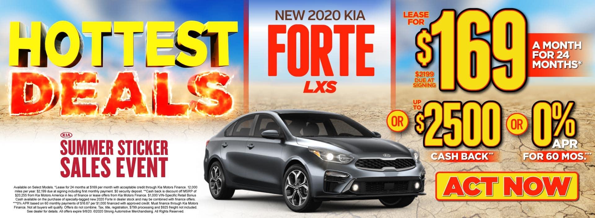 New 2020 Kia Forte only $169/mo - ACT NOW