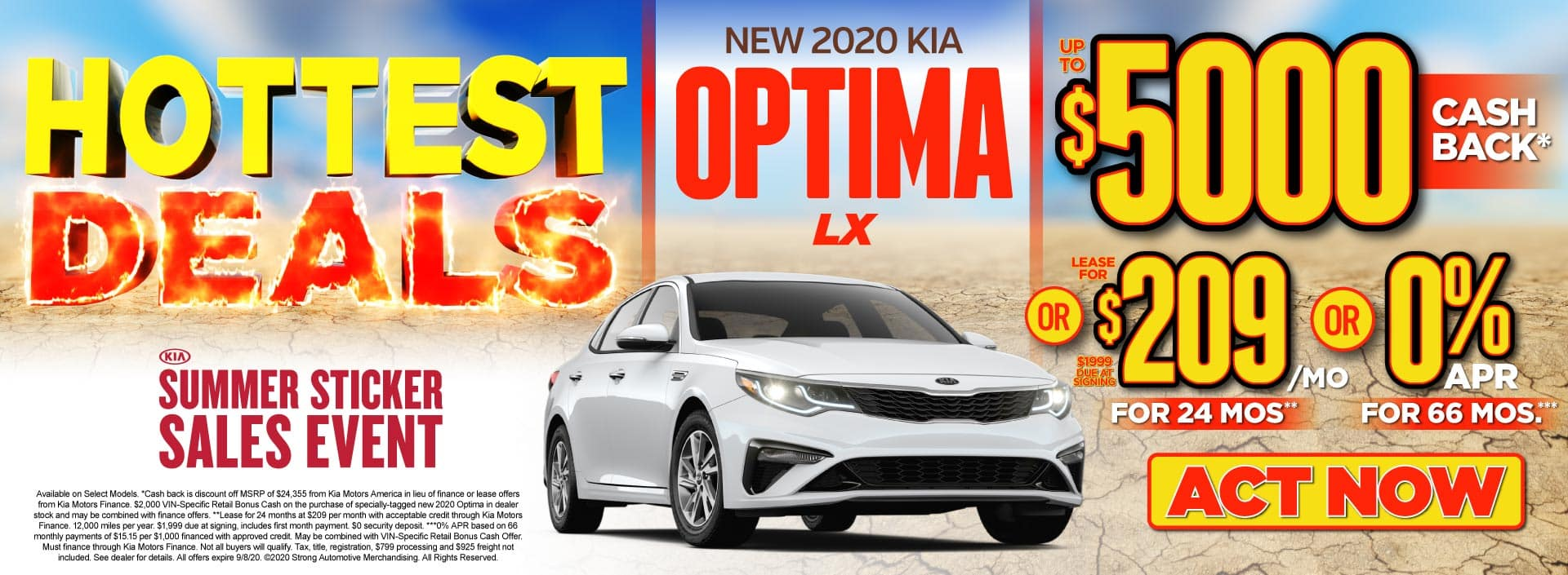 New 2020 Kia Optima up to $5000 Cash Back - ACT NOW