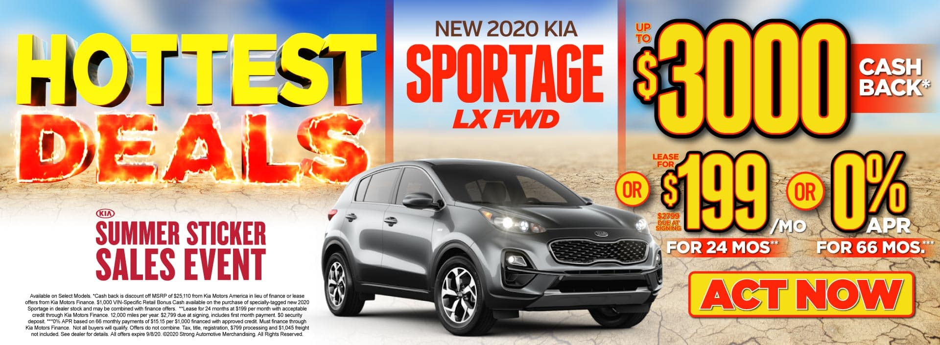 New 2020 Kia Sportage up to $3000 Off MSRP - ACT NOW