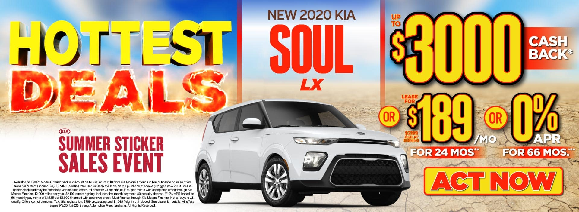 New 2020 Kia Soul up to $3000 Cash Back - ACT NOW