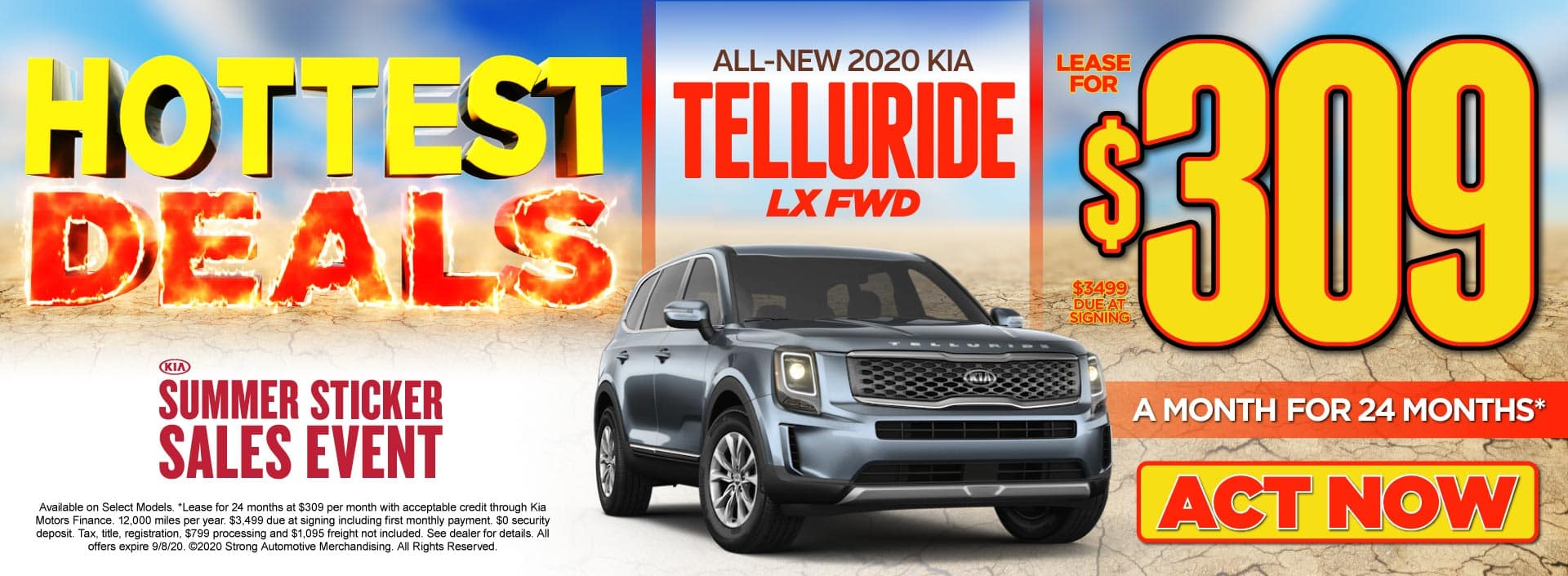 All-New 2020 Kia Telluride only$309/mo - ACT NOW