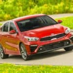 Kia Forte on a country road