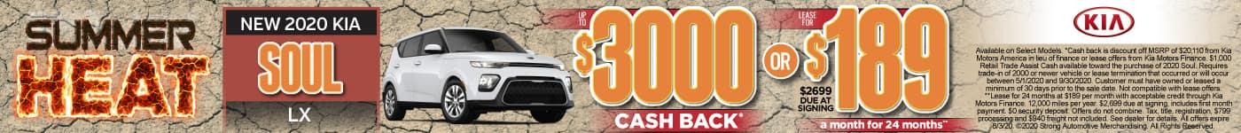 New 2020 Kia Soul up to $3000 Cash Back