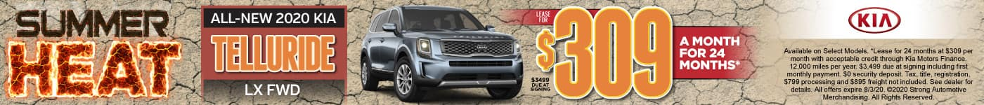 New 2020 Kia Telluride lease for only $309/mo