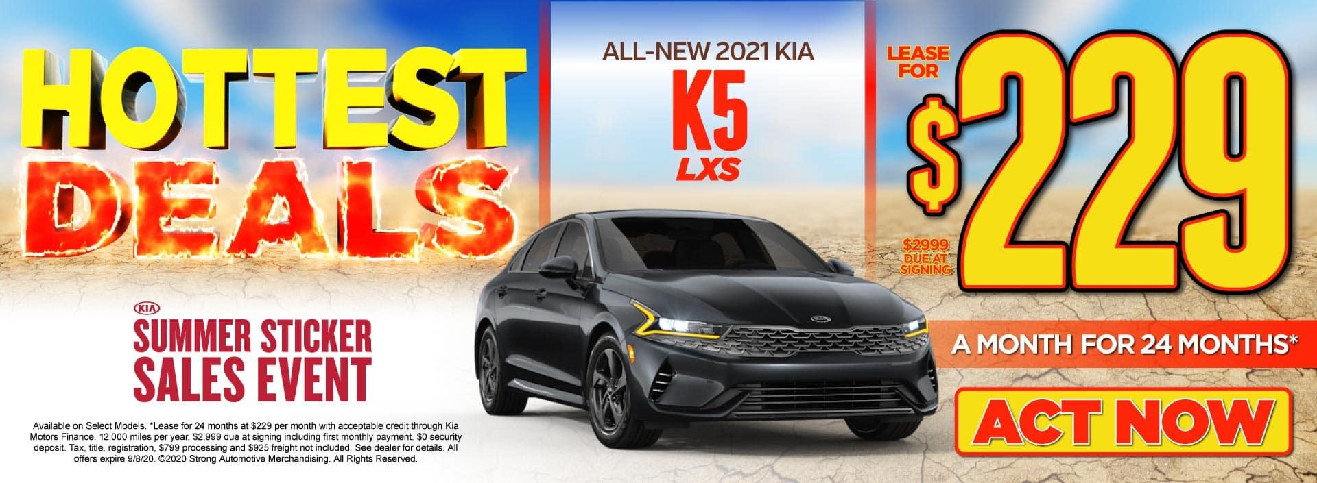 New 2021 Kia K5 only $229/mo - ACT NOW