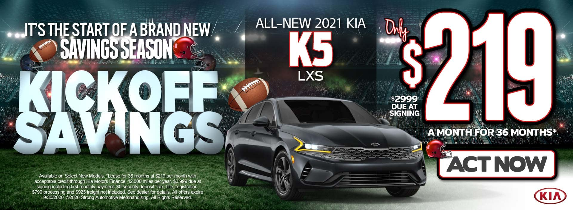 All-New 2021 Kia K5 only $219/mo - ACT NOW