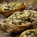 closeup of cooked oyster