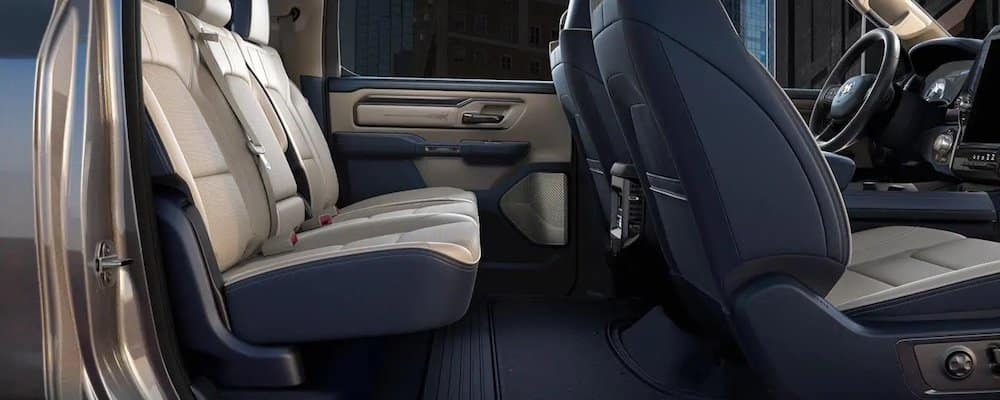2019 ram 1500 rear interior view