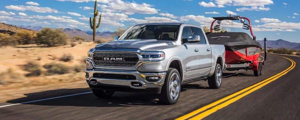 2019 ram 1500 towing on highway