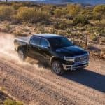 2019 ram 1500 driving on dirt road