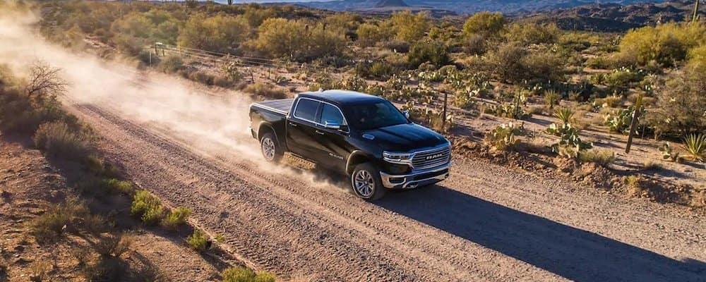 2019 ram 1500 driving on dirt road