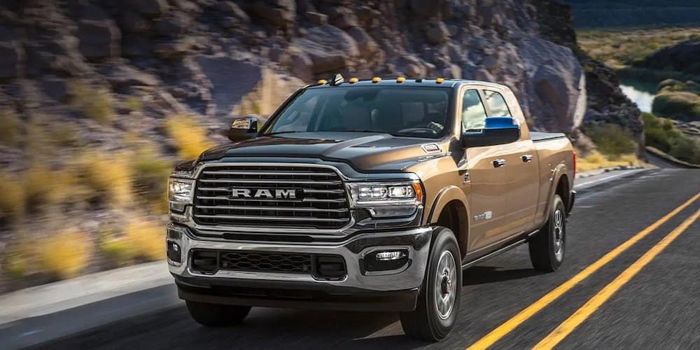 2019 ram 2500 driving on highway